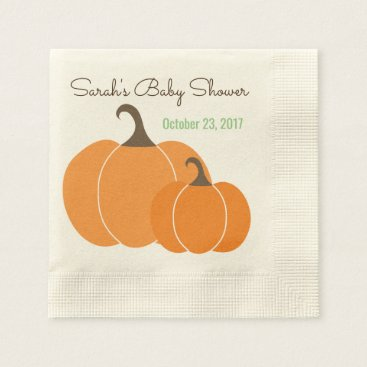 Halloween Themed Fall Themed Napkins with Pumpkins