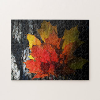 Fall-Themed Puzzle - Maple Leaves