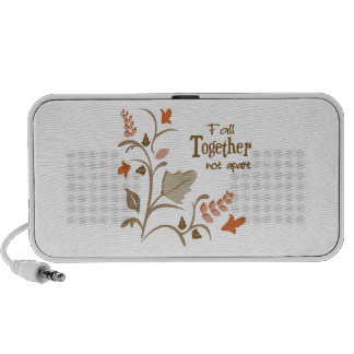 Fall Together Not Apart iPod Speakers