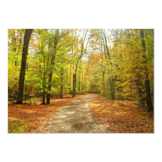 "Fall Trail Invitation 5"" X 7"" Invitation Card"