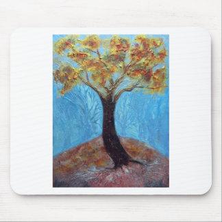 Fall Tree - acrylic Mouse Pad