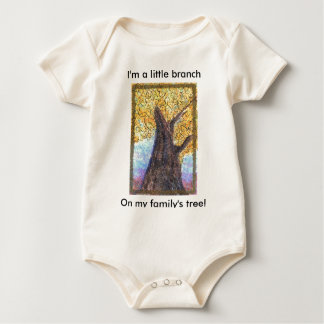 Fall Tree Aleph -baby Baby Bodysuit