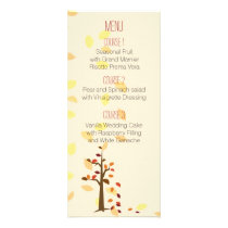 fall tree autumn brown leaves  wedding menu