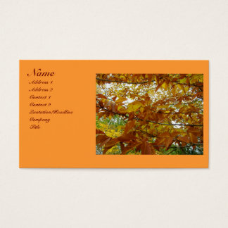 Fall Tree Business Cards