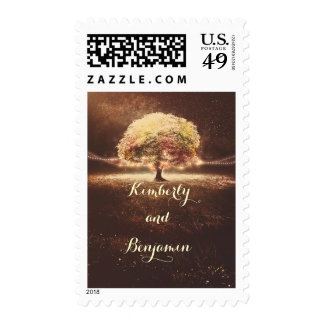 Fall Tree Dreamy Wedding Postage