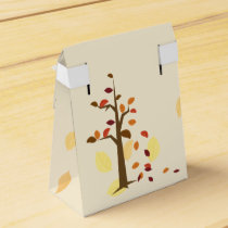 fall tree,  fall wedding favor box
