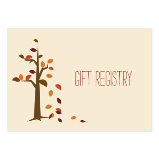 Fall tree,  fall wedding gift registry large business card