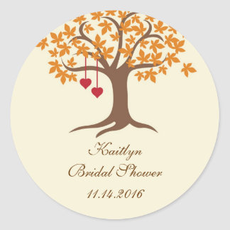 Fall Tree Favor Seal Sticker