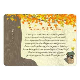 Fall Tree Initials Yellow Orange Wishing Well Business Cards