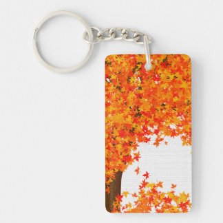 Fall Tree Key Chain - Golden Autumn Leaves