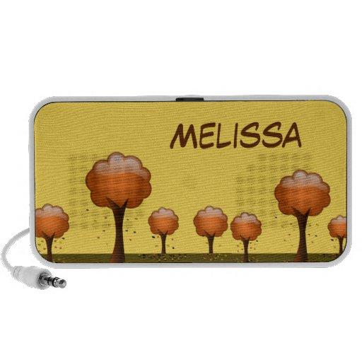 Fall Tree & Leaves Scene Portable Music Speaker