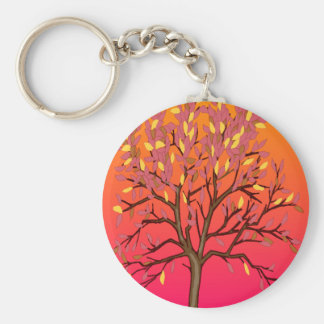 Fall tree merchandise keychain