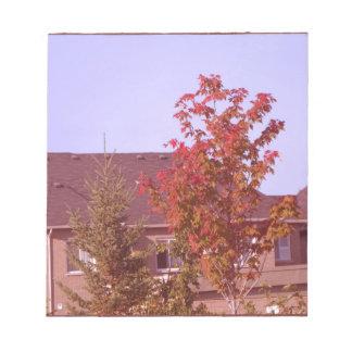 FALL Tree Oakville Ontario Gifts Shirts Memo Notepad