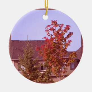 FALL Tree Oakville Ontario Gifts Shirts Double-Sided Ceramic Round Christmas Ornament