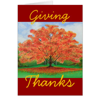 Fall Tree painting Greeting Card
