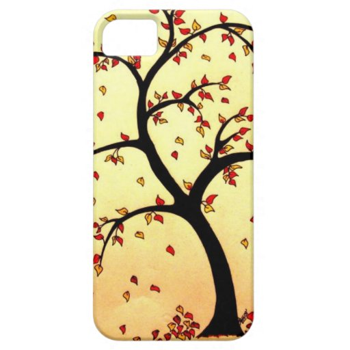 Fall tree pencil drawing iphone 5 cases