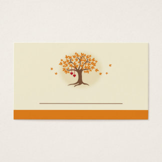 Fall Tree Place Card