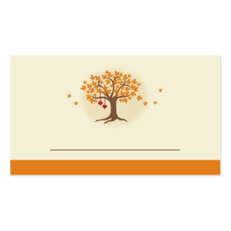 Fall Tree Place Card Business Card