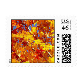 Fall Tree Postage Stamp