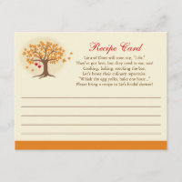 Fall Tree Recipe Card Invitation