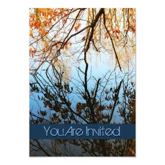 Fall Tree Reflections Wedding Invitations