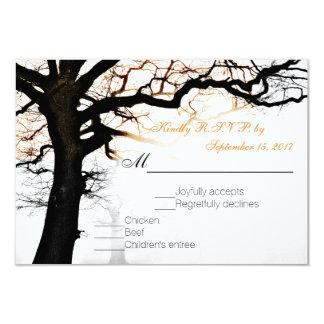 Fall Tree RSVP Card