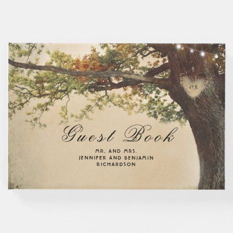 Fall Tree Rustic Country Wedding Guest Book