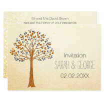 fall tree, Rustic Fall Wedding Invitations