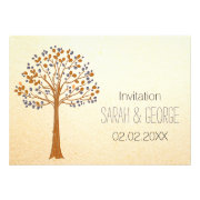 Fall Tree, Rustic Wedding invites by mgdezigns