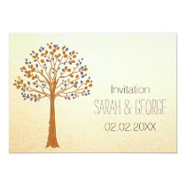 fall tree, Rustic Fall Wedding Invitations