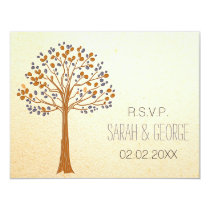 fall tree, Rustic Fall Wedding rsvp cards