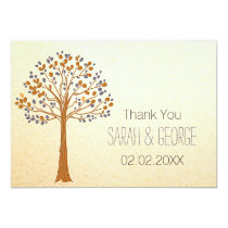 fall tree, Rustic Fall Wedding Thank You cards