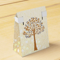fall tree,  Rustic Wedding favor box