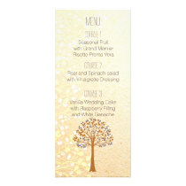 fall tree, Rustic Wedding menu