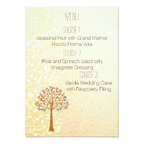 fall tree Rustic Wedding menu Card