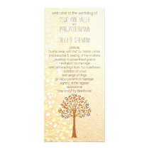 fall tree, Rustic Wedding programs