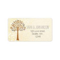 fall tree,Rustic Wedding return address label