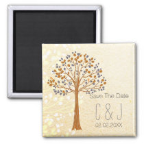fall tree,  Rustic Wedding save the date magnets