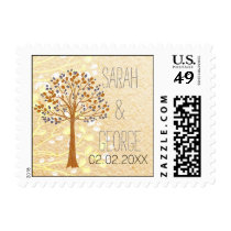 fall tree, Rustic Wedding stamps