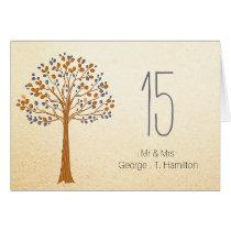 fall tree Rustic Wedding table seating card