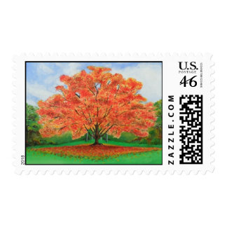 Fall Tree  -Select size and price of stamp.