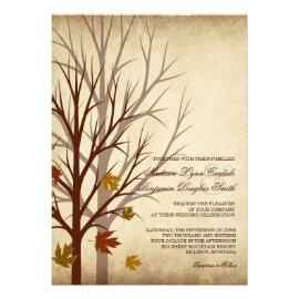 Fall Wedding Invitations - Rustic Country Wedding Invitations
