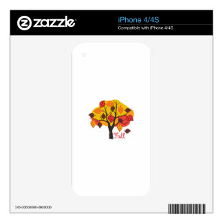 Fall Tree Decals For iPhone 4S