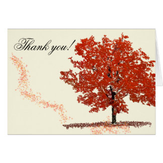 Fall Tree Thank you Card