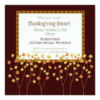 Fall Tree Thanksgiving Invitation