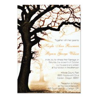 Fall Tree Wedding Invitation