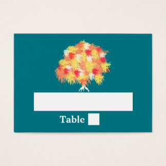 Fall tree weeping willow fern business card