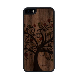 Fall Tree Wooden iPhone 5S Case