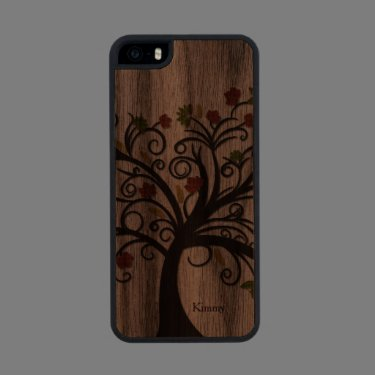 Fall Tree Wooden iPhone 5S Case Carved® Walnut iPhone 5 Case