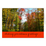 Fall Trees and Blue Sky Autumn Greetings Card